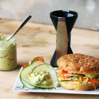 sandwich de verdura con spiralcat