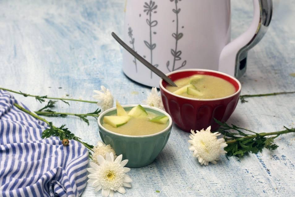 porridge de quinoa con manzana y pera